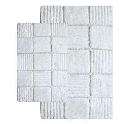 Chesapeake Merchandising Inc. Checkerboard Contemporary Bath Rug (Set of 2)