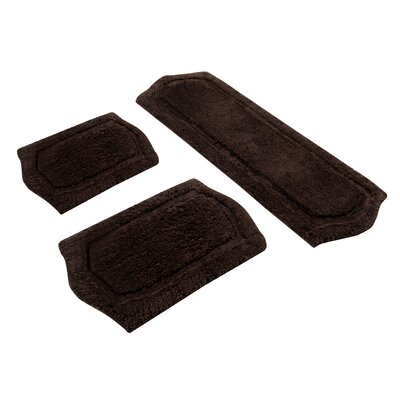 Chesapeake Merchandising Inc. Paradise Memory Foam Bath Rug (3 Piece Set)