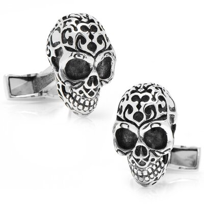 Cufflinks Inc. Sterling Silver Fatale Skull Cufflinks