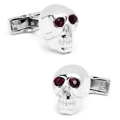 Cufflinks Inc. Sterling Silver Gemstone Skull Cufflinks