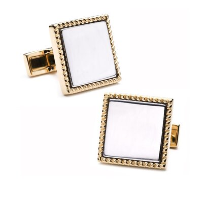 Sterling Silver Square Cufflinks with Personalization