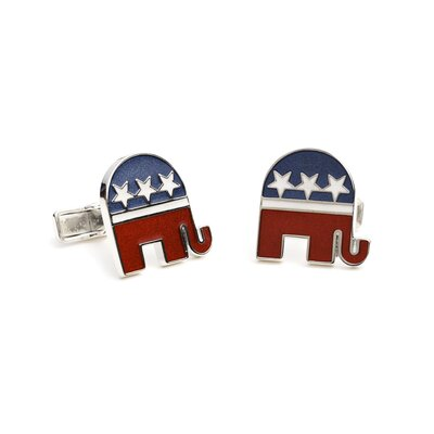 Ravi Ratan Sterling Republican Elephant Cufflinks