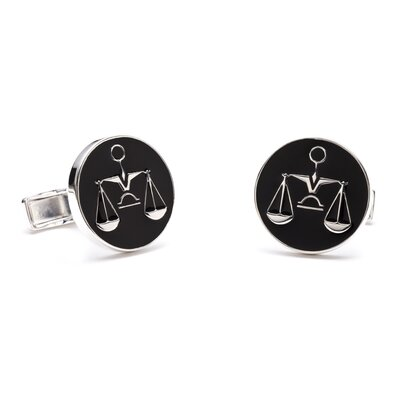 Ravi Ratan Sterling Scales of Justice Cufflinks