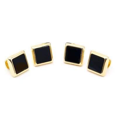 Gold and Onyx JFK Presidential Studs