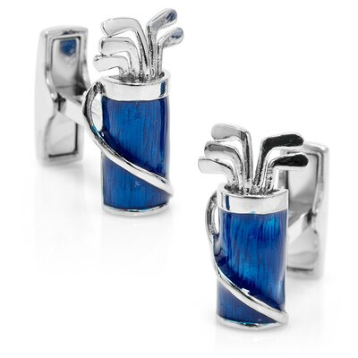 Ravi Ratan Palladium and Enamel Golf Bag Cufflinks