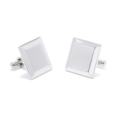 Ox and Bull Stainless Steel Engravable Staged Cufflinks