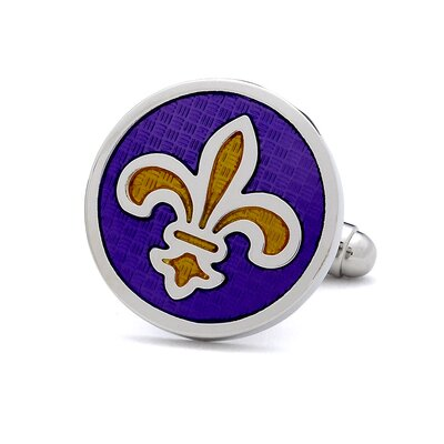 Ox and Bull Fleur de Lis Cufflinks in Purple