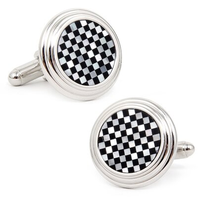 Ox and Bull Checker Step Cufflinks