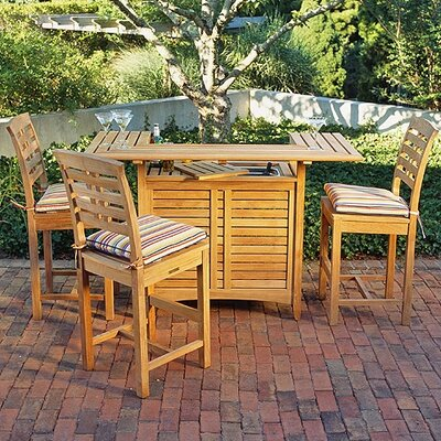 Kingsley Bate Mandalay 4 Piece Bar Height Dining Set