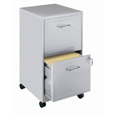 "CommClad Home Office 18"" Deep 2 Drawer Vertical Mobile File Cabinet"