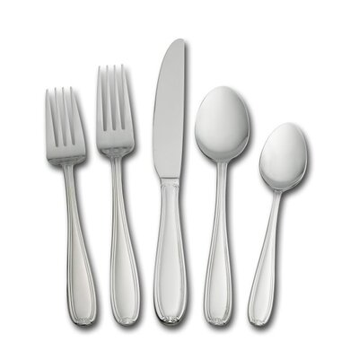Linden Flatware 45 Piece Flatware Set