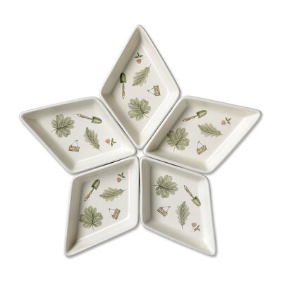 Pfaltzgraff Naturewood Segmented Star Serving Tray (Set of 5)