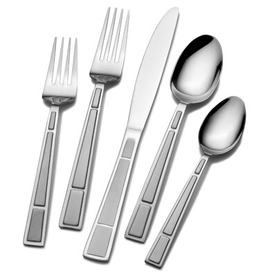 Pfaltzgraff Manhattan Frost 53 Piece Flatware Set