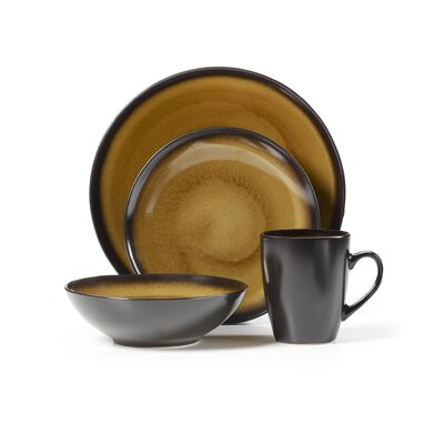Everyday Orion Gold 16 Piece Dinnerware Set