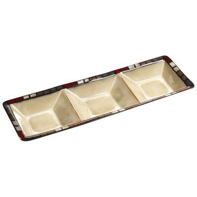 "Pfaltzgraff Calico 15.25"" Rectangular Serving Tray"