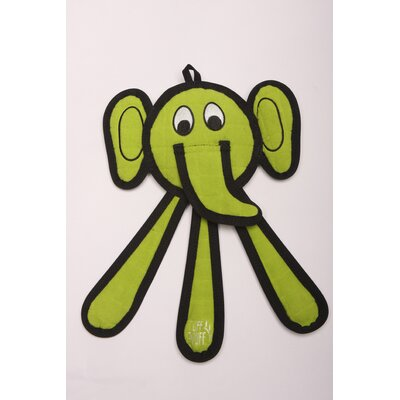Dangles Elephant Dog Toy in Green