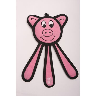 Tuff Enuff Dangles Pig Dog Toy in Pink