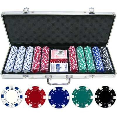 500 Piece Dice Poker Chip Set