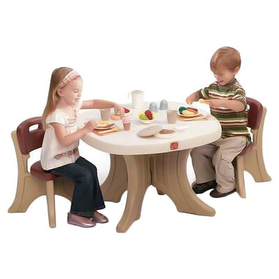 New Traditions Kids' 3 Piece Table and Chair Set
