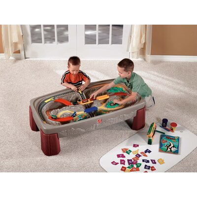 Step2 Deluxe Canyon Train & Track Table with Lid
