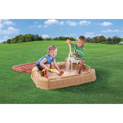 Step2 Naturally Playful Little Dunes 2' Rectangular Sandbox with Cover