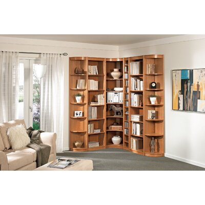 "Wildon Home ® Classic Soft 85"" H Six Shelf Outside Corner Bookcase"