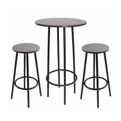 LumiSource Zella 3 Piece Pub Table Set