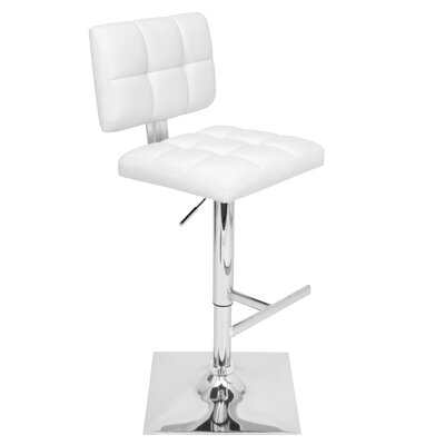 "LumiSource Glamour 25.25"" Adjustable Swivel Bar Stool"