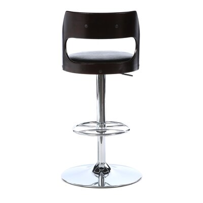 LumiSource Presta Barstool in Wenge Wood