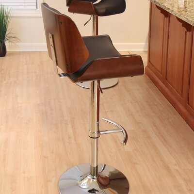 LumiSource Santi Adjustable Swivel Bar Stool