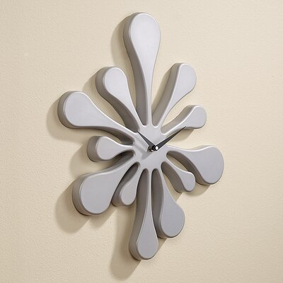 LumiSource Splat Clock in Silver