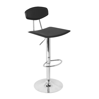 "LumiSource Vector 24"" Adjustable Swivel Bar Stool"