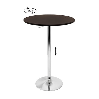 LumiSource Adjustable Height Pub Table