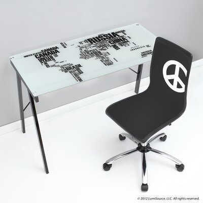World Map Office Writing Desk
