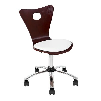 white wood desk chair wayfair