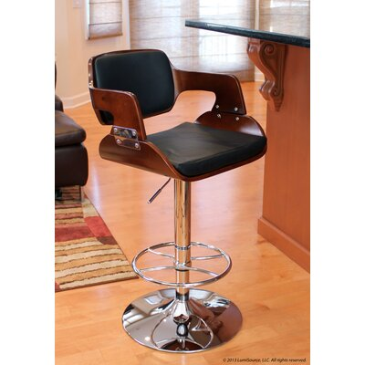 LumiSource Fiore Barstool in Cherry / Black