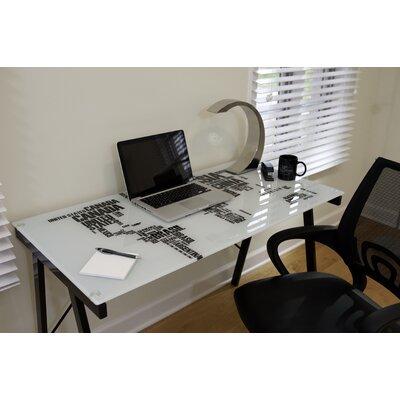 LumiSource World Map Office Writing Desk