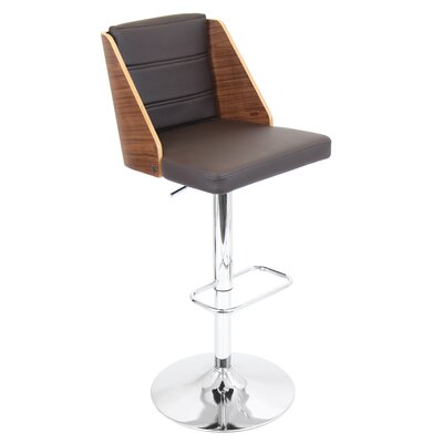 LumiSource Galanti Adjustable Swivels Bar Stool with Cushion