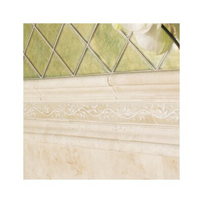 "Daltile Brancacci 12"" x 2"" Chair Rail Tile Trim in Aria Ivory"