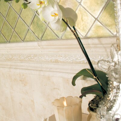 "Daltile Brancacci 2"" x 12"" Chair Rail in Aria Ivory"