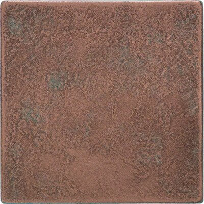 "Daltile Castle Metals 4-1/4"" x 4-1/4"" Decorative Wall Tile in Aged Copper"