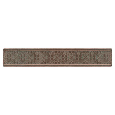 "Daltile Castle Metals 12"" x 2"" Clover Decorative Border Tile in Aged Copper"