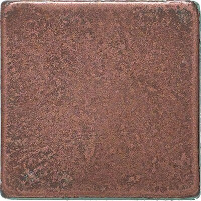 "Daltile Castle Metals 2"" x 2"" Basic Dot Decorative Accent Tile in Aged Copper"