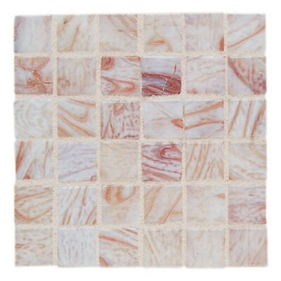 """Daltile Elemental Glass 3/4"""" x 3/4"""" Mosaic Tile in Conch Shell"""