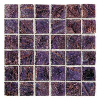 "Daltile Elemental Glass 3/4"" x 3/4"" Mosaic Tile in Grape Soda"