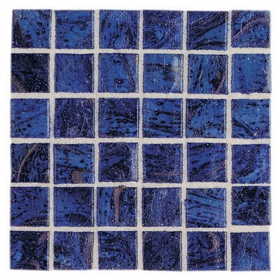 "Daltile Elemental Glass 12"" x 12"" Mosaic Tile in Imperial Lapis"