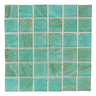 "Daltile Elemental Glass 3/4"" x 3/4"" Mosaic Tile in Mint Julep"