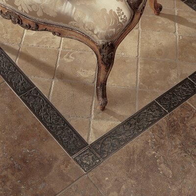 "Daltile Metal Signatures Jardin 12"" x 3"" Floor/Wall Border in Aged Iron"