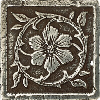 "Daltile Metal Signatures Jardin 3"" x 3"" Corner Tile in Aged Iron"