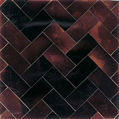 "Daltile Ocean Jewels 2"" x 2"" Herringbone Accent Tile in Young Pin"